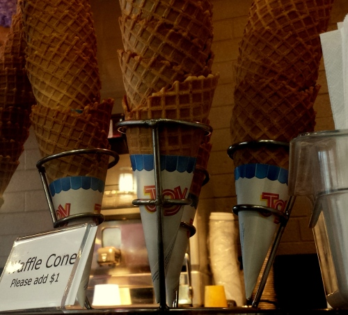 House-made Waffle Cones